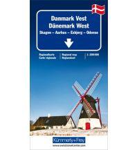 Straßenkarten K+F Straßenkarte Dänemark West 1:200.000 Hallwag Kümmerly+Frey AG