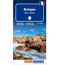 Straßenkarten Kümmerly+Frey Straßenkarte Bretagne 1:175.000 Hallwag Kümmerly+Frey AG