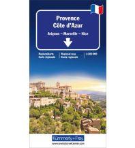 Straßenkarten Kümmerly+Frey Straßenkarte Provence-Côte d'Azur 1:200 000 Hallwag Kümmerly+Frey AG