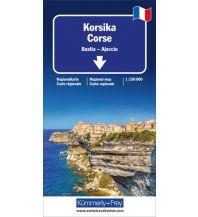 Straßenkarten Kümmerly+Frey Straßenkarte Korsika 1:150.000 Hallwag Kümmerly+Frey AG