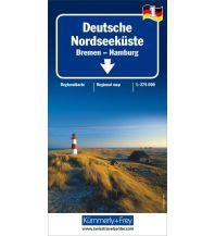 Straßenkarten Deutschland K+F Straßenkarte Blatt 1, Deutsche Nordseeküste - Bremen, Hamburg 1:275.000 Hallwag Kümmerly+Frey AG