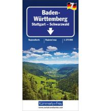 Straßenkarten Deutschland K+F Straßenkarte Blatt 7, Baden Württemberg - Stuttgart, Schwarzwald 1:275.000 Hallwag Kümmerly+Frey AG