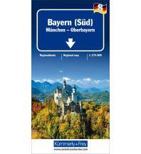 Straßenkarten Deutschland K+F Straßenkarte Blatt 8, Bayern Süd - München Oberbayern 1: 275 000 Hallwag Kümmerly+Frey AG