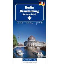 Straßenkarten Deutschland K+F Straßenkarte Blatt 4 Berlin, Brandenburg 1 : 275.000 Hallwag Kümmerly+Frey AG