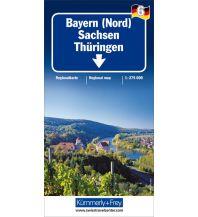 Straßenkarten Deutschland K+F Straßenkarte Blatt 6 Sachsen, Thüringen, Bayern Nord 1:275.000 Hallwag Kümmerly+Frey AG