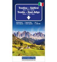 Straßenkarten K+F Italien Regionalkarte 3, Trentino-Südtirol 1:200.000 Hallwag Kümmerly+Frey AG