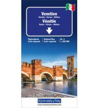 Straßenkarten K+F Italien Regionalkarte 4, Venetien 1:200.000 Hallwag Kümmerly+Frey AG
