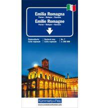 Straßenkarten K+F Italien Regionalkarte 7, Emilia-Romagna 1:200.000 Hallwag Kümmerly+Frey AG
