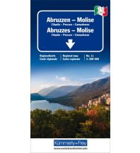 Straßenkarten K+F Italien Regionalkarte 11, Abruzzen-Molise 1:200.000 Hallwag Kümmerly+Frey AG