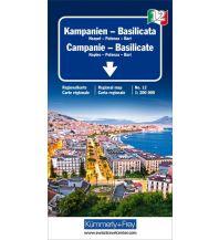 Straßenkarten K+F Italien Regionalkarte 12, Kampanien - Basilicata 1:200.000 Hallwag Kümmerly+Frey AG