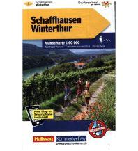 Wanderkarten Schweiz & FL K+F-Wanderkarte 1, Schaffhausen, Winterthur 1:60.000 Hallwag Kümmerly+Frey AG