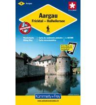Wanderkarten Schweiz & FL K+F-Wanderkarte 5, Aargau, Fricktal, Hallwilersee 1:60.000 Hallwag Kümmerly+Frey AG