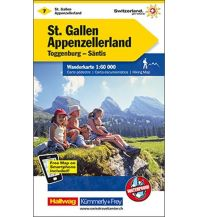 Wanderkarten Vorarlberg K+F-Wanderkarte 7, St. Gallen, Appenzellerland, Toggenburg, Säntis 1:60.000 Hallwag Kümmerly+Frey AG