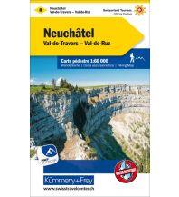 Wanderkarten Schweiz & FL K+F-Wanderkarte 8, Neuenburg/Neuchâtel 1:60.000 Hallwag Kümmerly+Frey AG