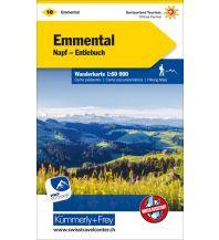 Wanderkarten Schweiz & FL K+F-Wanderkarte 10, Emmental, Napf, Entlebuch 1:60.000 Hallwag Kümmerly+Frey AG