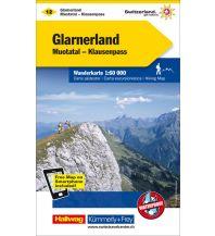 Wanderkarten Schweiz & FL K+F-Wanderkarte 12, Glarnerland, Muotatal, Klausenpass 1:60.000 Hallwag Kümmerly+Frey AG
