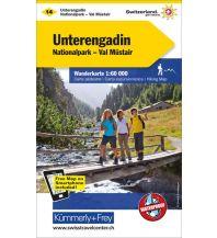 Wanderkarten Schweiz & FL Wanderkarte 14, Unterengadin, Nationalpark, Val Müstair 1:60.000 Hallwag Kümmerly+Frey AG