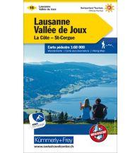 Wanderkarten Schweiz & FL K+F-Wanderkarte 15, Lausanne, Vallée de Joux, La Côte, St-Cergue 1:60.000 Hallwag Kümmerly+Frey AG