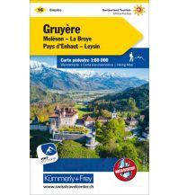 Wanderkarten Schweiz & FL Wanderkarte 16, Gruyère, Moléson, La Broye, Pays d'Enhaut, Leysin 1:60.000 Hallwag Kümmerly+Frey AG