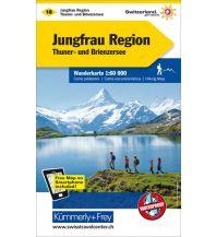 Wanderkarten Schweiz & FL K+F-Wanderkarte 18, Jungfrau-Region, Thuner- & Brienzersee 1:60.000 Hallwag Kümmerly+Frey AG
