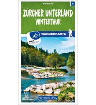 Wanderkarten Schweiz & FL Zürcher Unterland - Winterthur 08 Wanderkarte 1:40 000 matt laminiert Hallwag Kümmerly+Frey AG