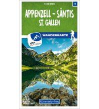 Wanderkarten Vorarlberg K+F-Wanderkarte 09, Appenzell, Säntis, St. Gallen 1:40.000 Hallwag Kümmerly+Frey AG