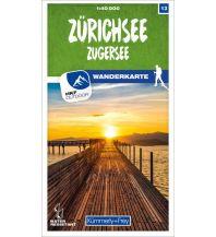Wanderkarten Schweiz & FL Zürichsee - Zugersee 13 Wanderkarte 1:40 000 matt laminiert Hallwag Kümmerly+Frey AG