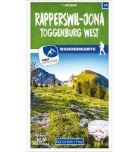 Wanderkarten Schweiz & FL Rapperswil - Jona Toggenburg West 14 Wanderkarte 1:40 000 matt laminiert Hallwag Kümmerly+Frey AG