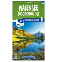 Wanderkarten Schweiz & FL Walensee - Toggenburg Ost 15 Wanderkarte 1:40 000 matt laminiert Hallwag Kümmerly+Frey AG