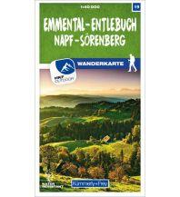 K+F-Wanderkarte 19, Emmental, Entlebuch, Napf, Sörenberg 1:40.000 Hallwag Kümmerly+Frey AG
