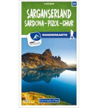Wanderkarten Schweiz & FL Sarganserland Sardona - Pizol - Chur 22 Wanderkarte 1:40 000 matt laminiert Hallwag Kümmerly+Frey AG