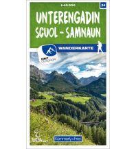 Wanderkarten Vorarlberg K+F Wanderkarte 24, Unterengadin, Scuol, Samnaun 1:40.000 Hallwag Kümmerly+Frey AG