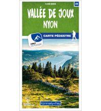 Wanderkarten Schweiz & FL Vallée de Joux - Nyon 25 Wanderkarte 1:40 000 matt laminiert Hallwag Kümmerly+Frey AG