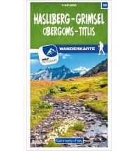 K+F-Wanderkarte 32, Hasliberg, Grimsel, Obergoms, Titlis 1:40.000 Hallwag Kümmerly+Frey AG