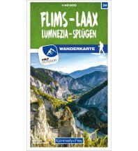 Wanderkarten Schweiz & FL Flims - Laax Lumnezia - Splügen 34 Wanderkarte 1:40 000 matt laminiert Hallwag Kümmerly+Frey AG