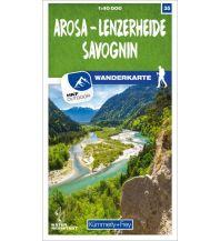 Wanderkarten Schweiz & FL K+F-Wanderkarte 35, Arosa, Lenzerheide, Savognin 1:40.000 Hallwag Kümmerly+Frey AG