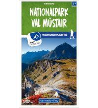 Wanderkarten Schweiz & FL K+F-Wanderkarte 37, Nationalpark, Val Müstair 1:40.000 Hallwag Kümmerly+Frey AG
