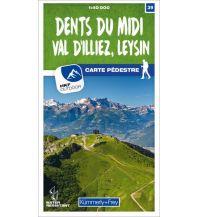 Wanderkarten Schweiz & FL K+F Wanderkarte 39, Dents du Midi, Val d'Illiez, Leysin 1:40.000 Hallwag Kümmerly+Frey AG