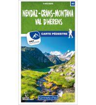 Nendaz - Crans-Montana Val d'Hérens 40 Wanderkarte 1:40 000 matt laminiert Hallwag Kümmerly+Frey AG