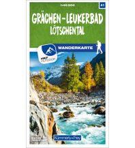 Grächen - Leukerbad Lötschental 41 Wanderkarte 1:40 000 matt laminiert Hallwag Kümmerly+Frey AG