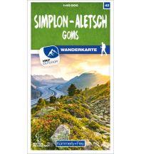 K+F-Wanderkarte 42, Simplon, Aletsch, Goms 1:40.000 Hallwag Kümmerly+Frey AG