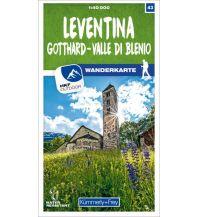 K+F-Wanderkarte 43, Leventina, Gotthard, Valle di Blenio 1:40.000 Hallwag Kümmerly+Frey AG