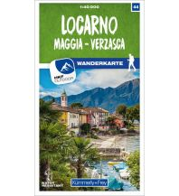 Wanderkarten Schweiz & FL K+F-Wanderkarte 44, Locarno, Maggia, Verzasca 1:40.000 Hallwag Kümmerly+Frey AG