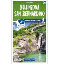 Bellinzona - San Bernardino 45 Wanderkarte 1:40 000 matt laminiert Hallwag Kümmerly+Frey AG