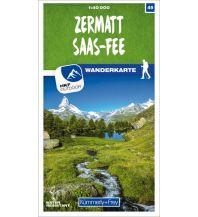 Wanderkarten Schweiz & FL K+F-Wanderkarte 49, Zermatt, Saas-Fee 1:40.000 Hallwag Kümmerly+Frey AG