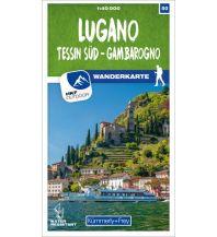 Wanderkarten Schweiz & FL K+F-Wanderkarte 50, Lugano, Tessin Süd, Gambarogno 1:40.000 Hallwag Kümmerly+Frey AG