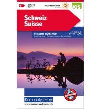 Radkarten Kümmerly + Frey Velokarte - Schweiz 1:301.000 Hallwag Kümmerly+Frey AG