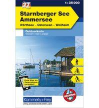 Wanderkarten Starnberger See Outdoorkarte Deutschland Nr. 27 Hallwag Kümmerly+Frey AG