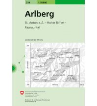 Wanderkarten Vorarlberg Landeskarte der Schweiz 239, Arlberg 1:50.000 Bundesamt für Landestopographie