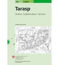 Wanderkarten Vorarlberg Landeskarte der Schweiz 249, Tarasp 1:50.000 Bundesamt für Landestopographie